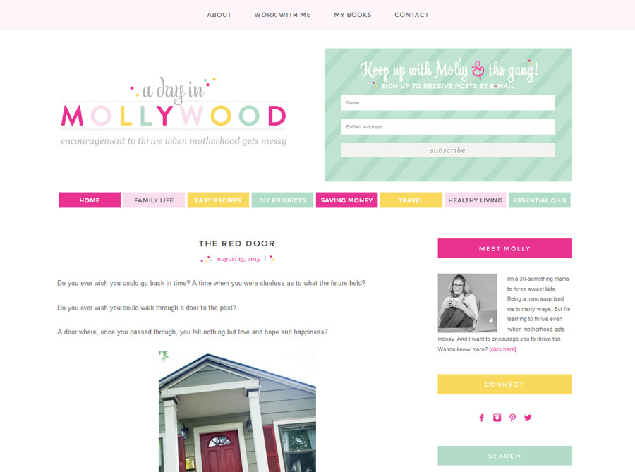 A Day in Mollywood | Custom Blog Design | by Emily