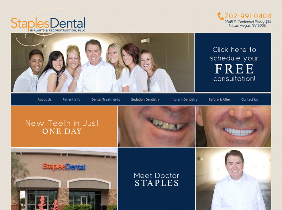 Staples Dental | Custom Website Design | by Erika S.