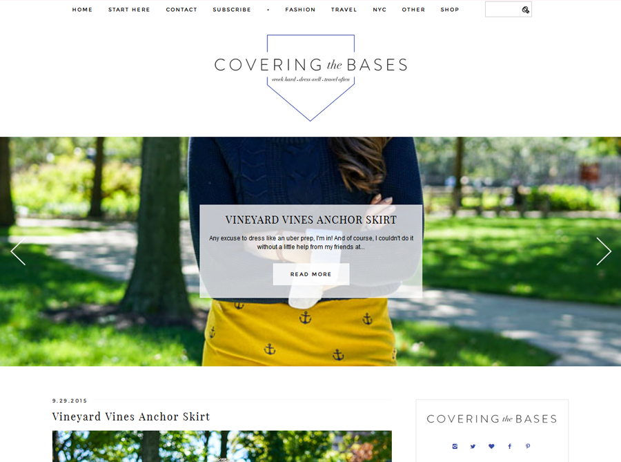 Covering the Bases | Custom Blog Design | by Emily
