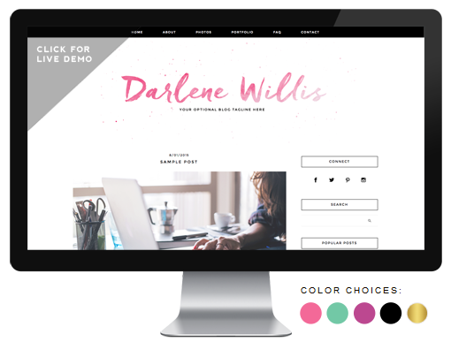 premade blog design