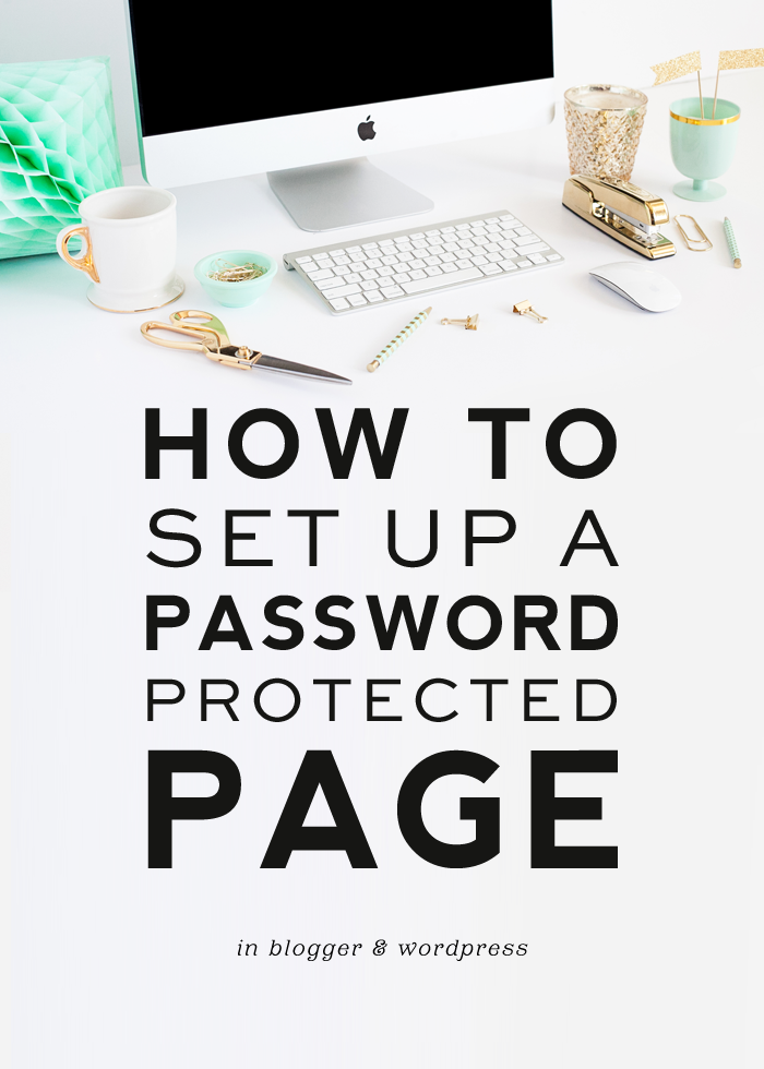 How to Set Up a Password Protected Page