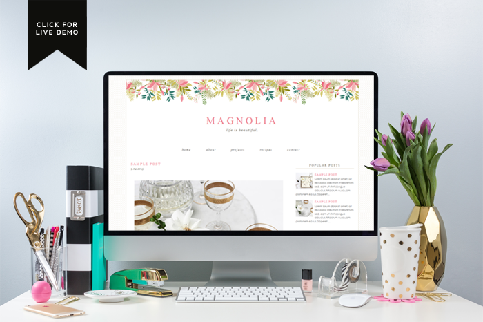 Free Monthly Blogger Template | September