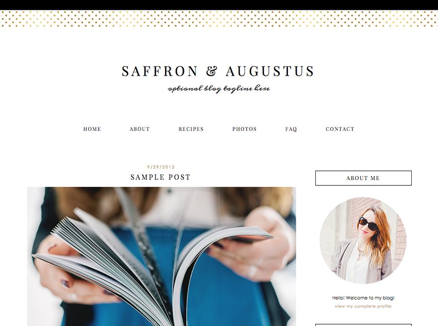 Saffron | Blog Templates