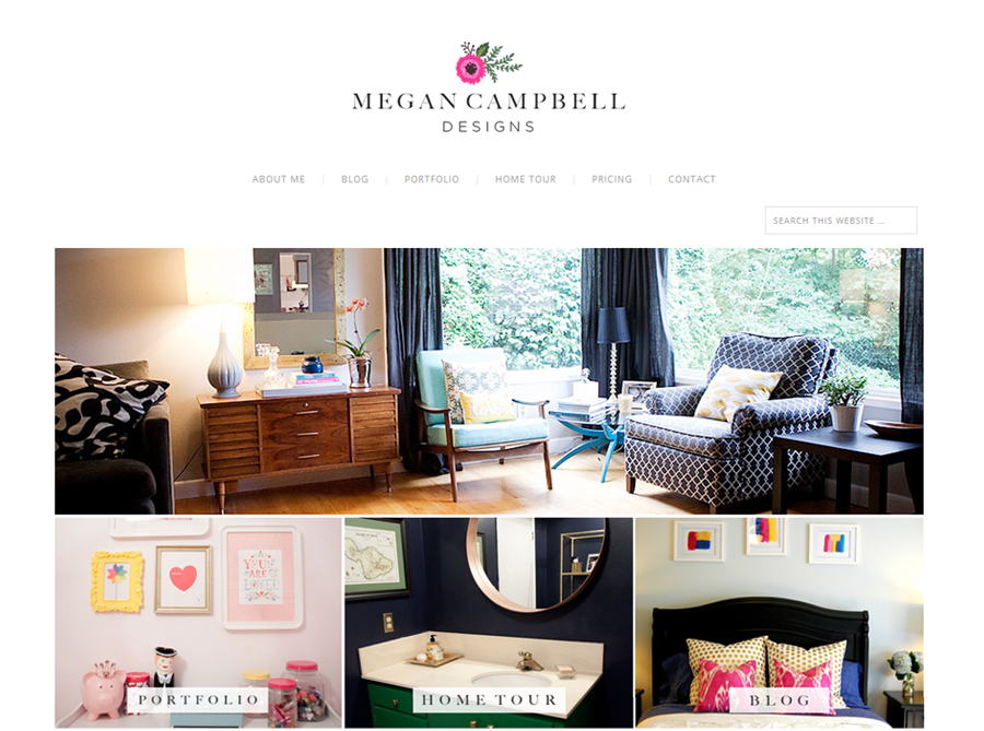 Megan Campbell Designs | Custom Website Design | by Erika S.