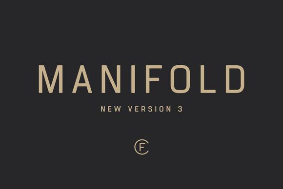 Manifold Font