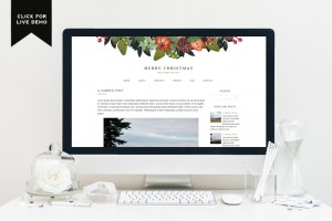 Free Monthly Blogger Template | December