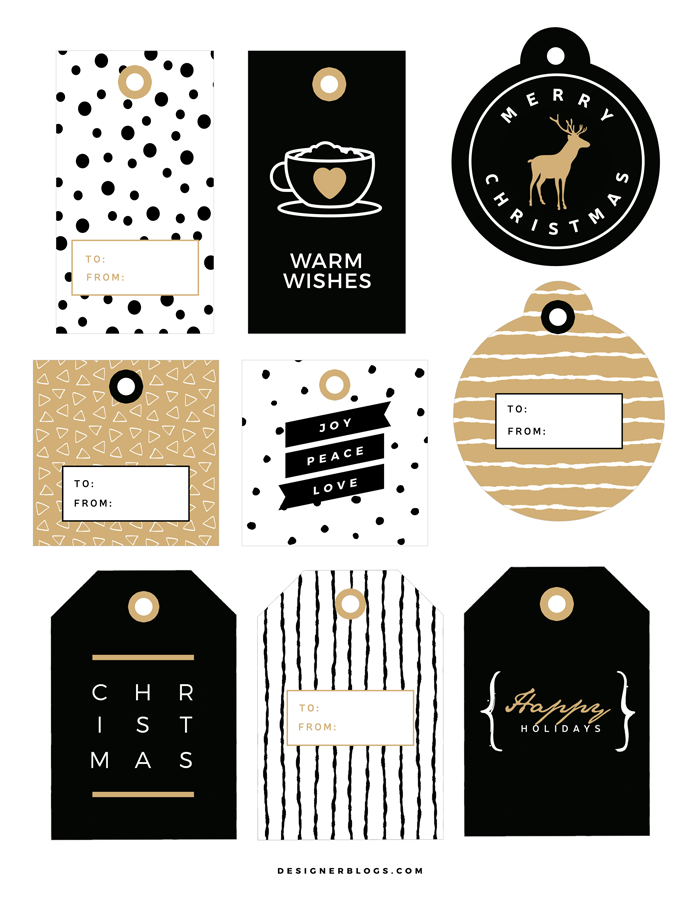 Holiday Tags Printable