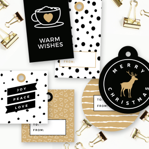 Free Printable Holiday Gift Tags - 9 Different Designs!