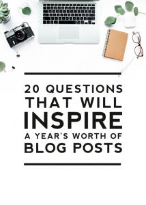 20 questions that will inspire a year's worth of blog posts - designerblogs