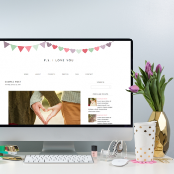 Free Monthly Blogger Template | January