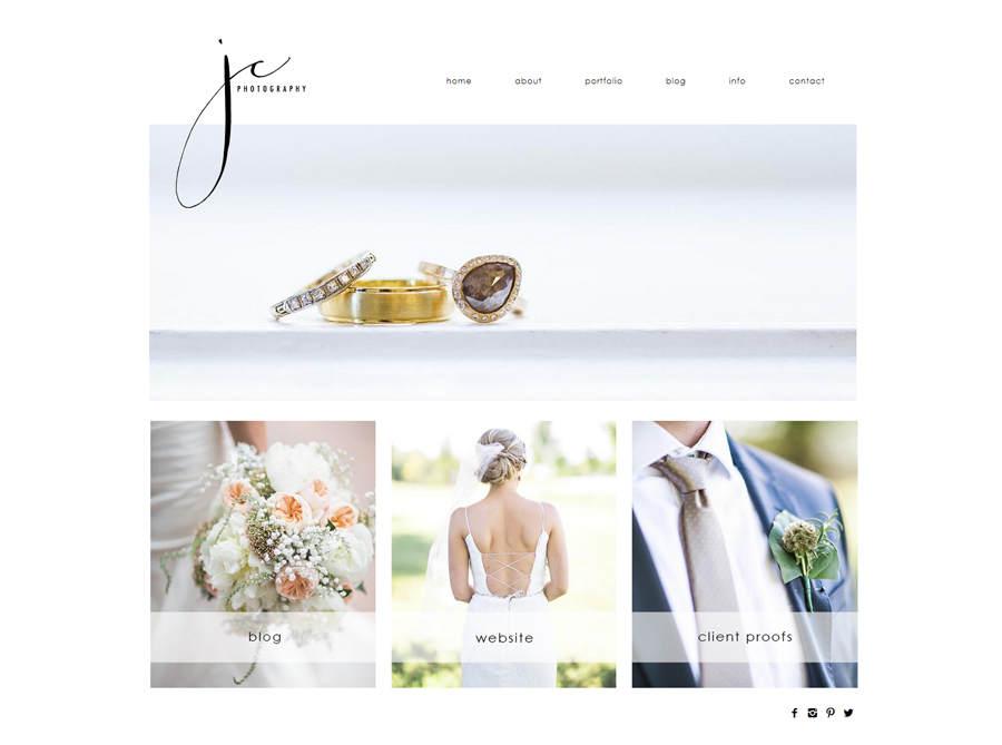 JC Photography | Custom Website Design | by Erika S.
