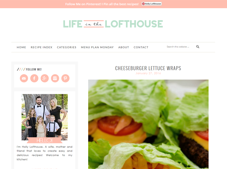 Life in the Lofthouse | Custom Blog Design | by Kate