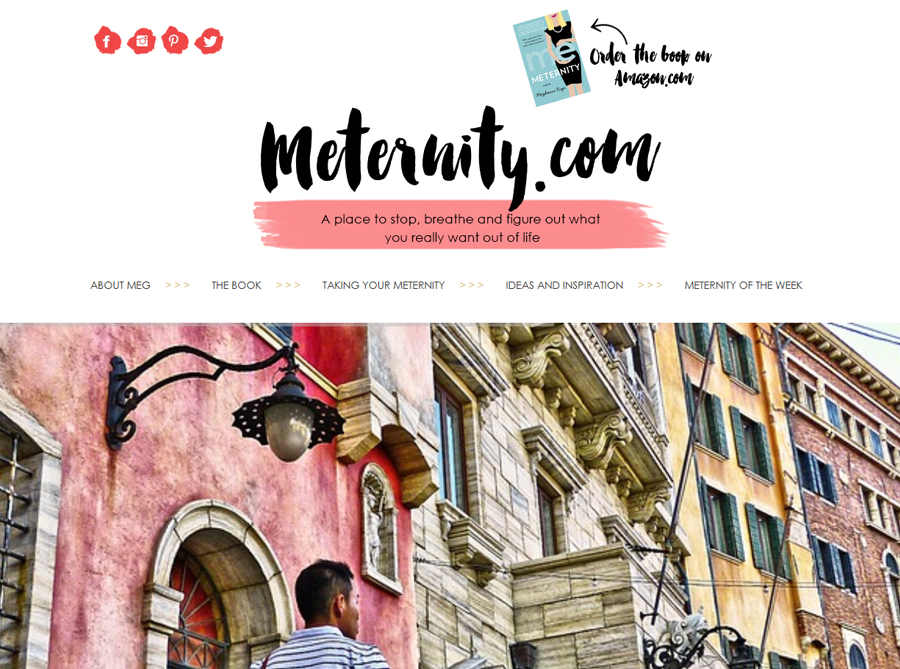 Meternity | Custom Blog Design | by Erika S.