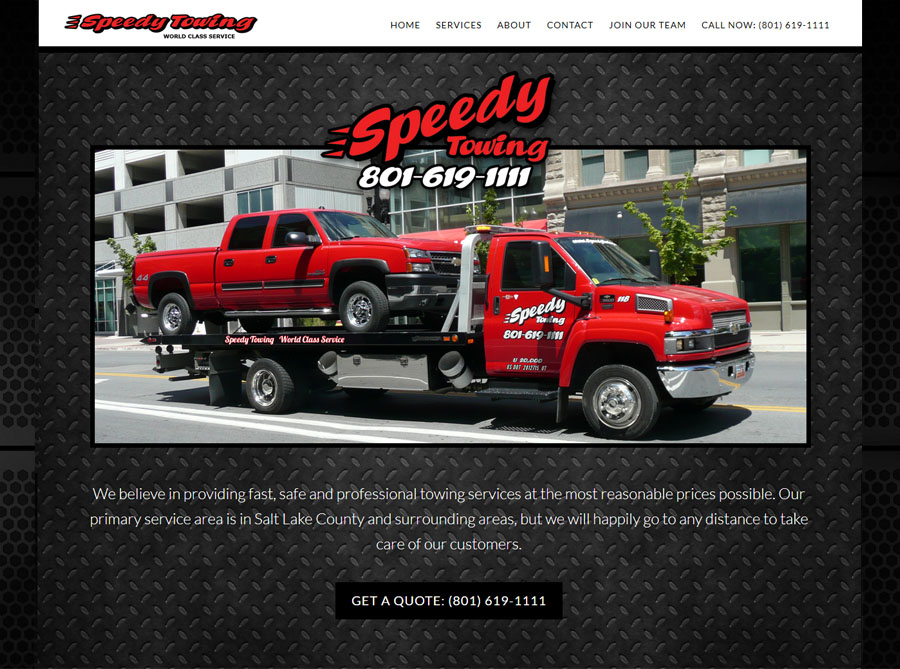 Speedy Towing | Custom Website Design | by Erin