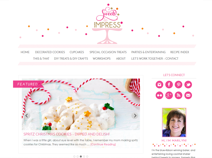Sweets to Impress | Custom Blog Design | by Carrie