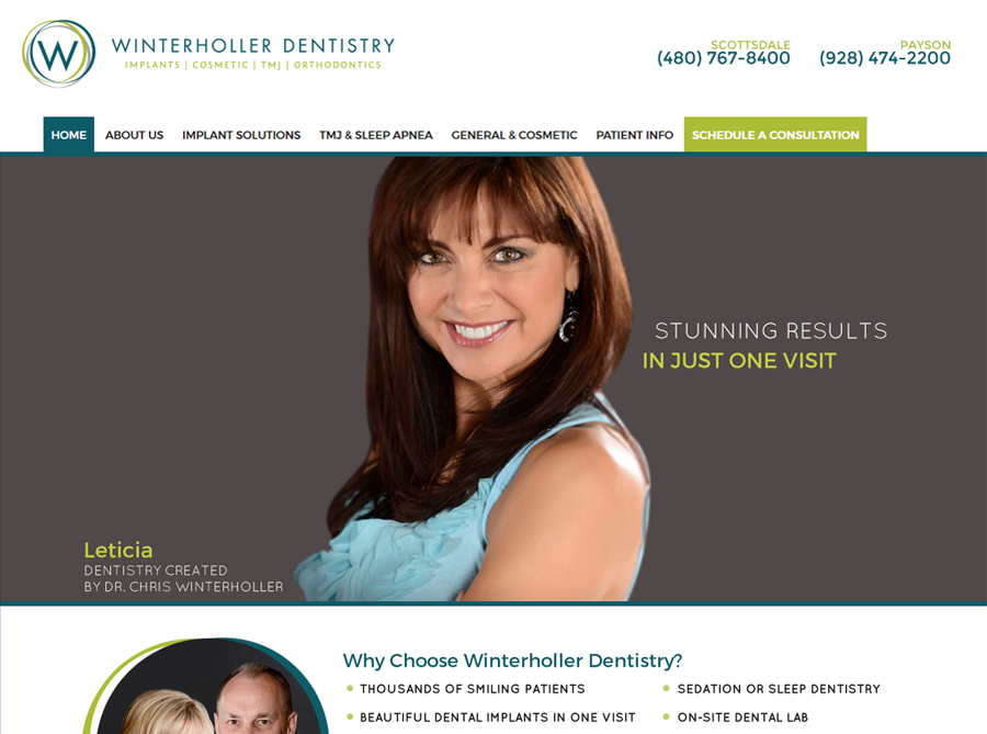 Winderholler Dentistry | Custom Website Design | by Kate