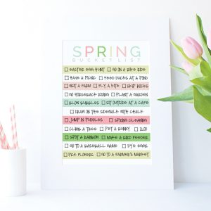 Spring Bucket List Printable