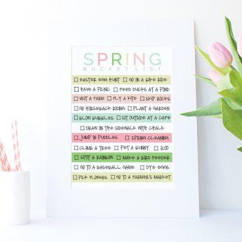 Spring Bucket List Printable