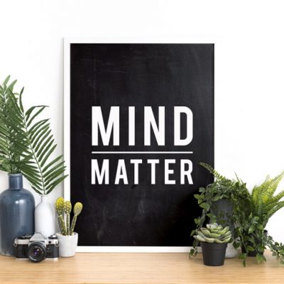 Idea - Decorate your office during quarantine with free Mind/Matter poster