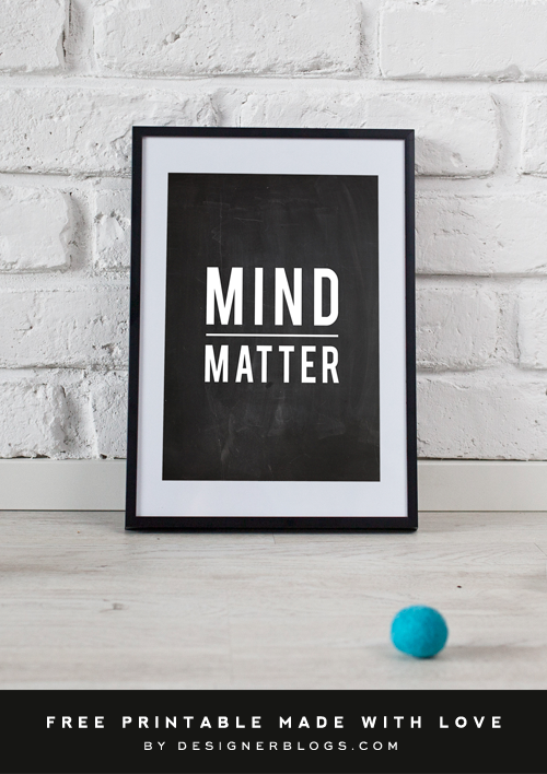 Mind Over Matter Free Printable