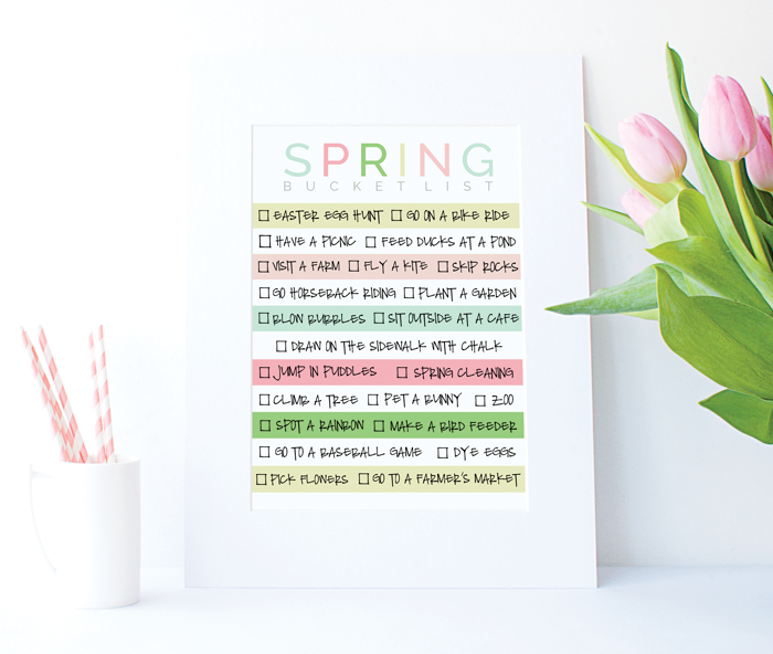 photo regarding Bucket Printable known as Spring Bucket Record Printable - Designer Weblogs