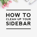 Cleaning Up Your Sidebar