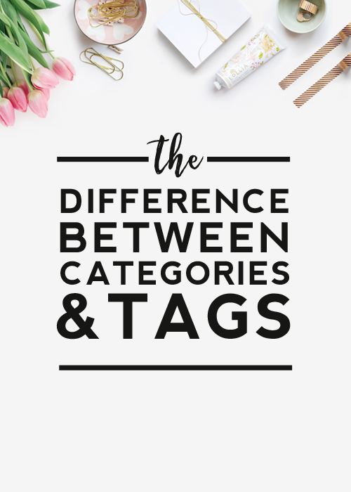 categories vs. tags