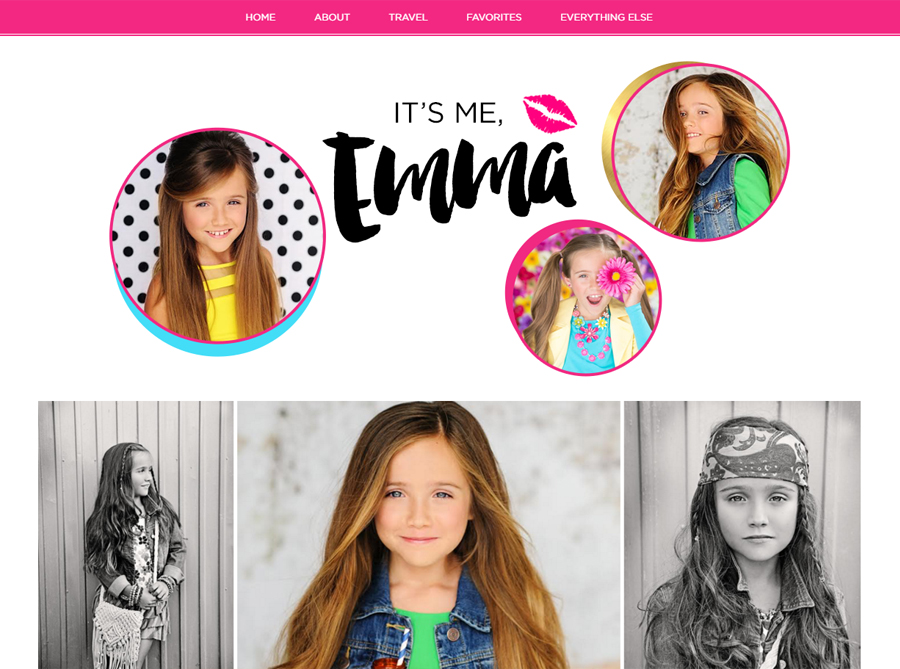 It's Me Emma | Custom Blog Design | by Erika S.