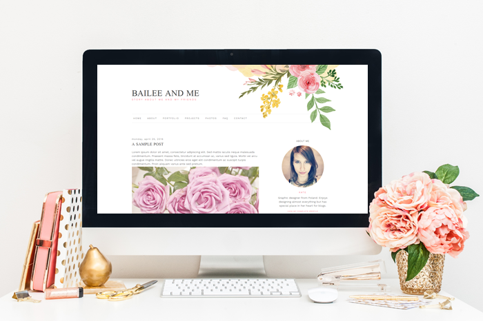 Bailee Blog Template