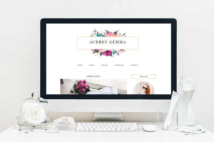 Audrey Blog Template