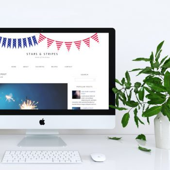 Free Monthly Blogger Template | July