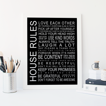 Free Printable   House Rules