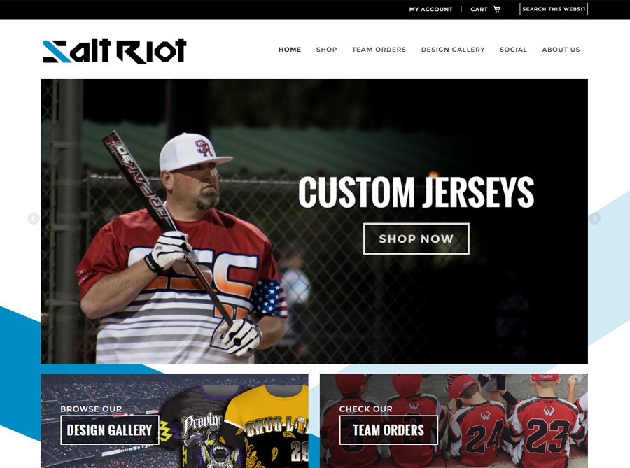 Salt Riot | Custom Website Design | by Kate