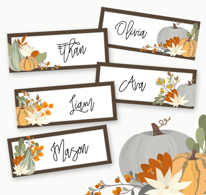 Thanksgiving Place Cards Printable