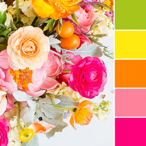 Color Love | Bright Green, Yellow, Orange & Pink