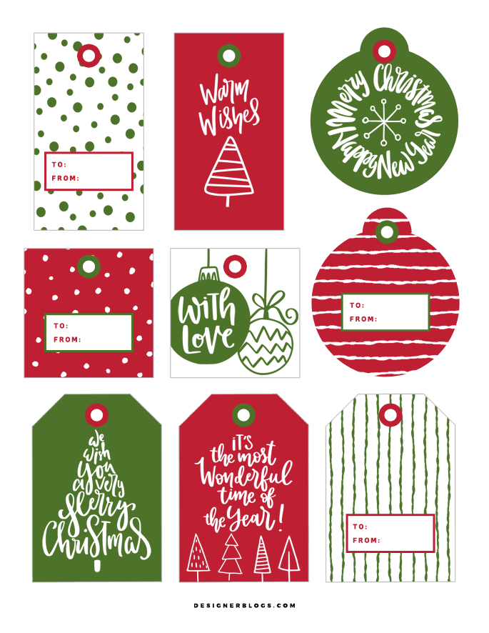 It is a graphic of Unforgettable Christmas Present Tags Printable