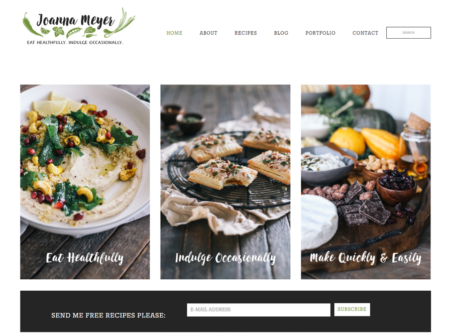 Joanna Meyer | Custom Website Design | by Heather