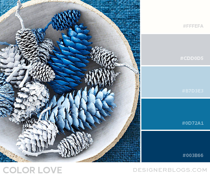 blue & gray color palette
