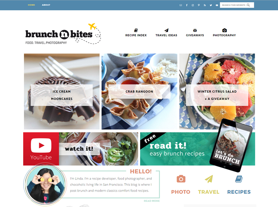 Brunch N Bites | Custom Website Design | by Kate