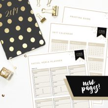 New 2017 Blog Planner Pages!