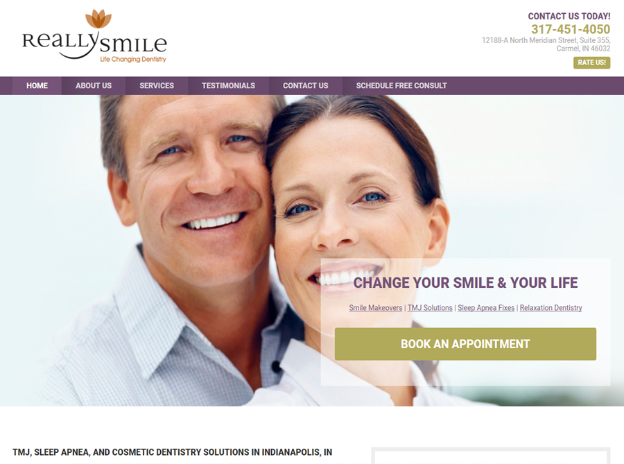 Really Smile | Custom Website Design | by Kate