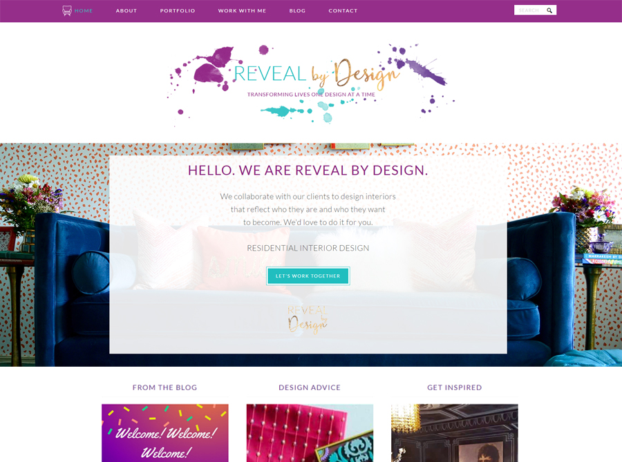 Reveal by Design | Custom Website Design | by Heather