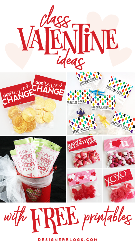 Class Valentine Ideas with free printables