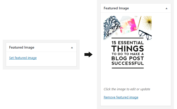 Adding a featured image is essential when creating a new blog post