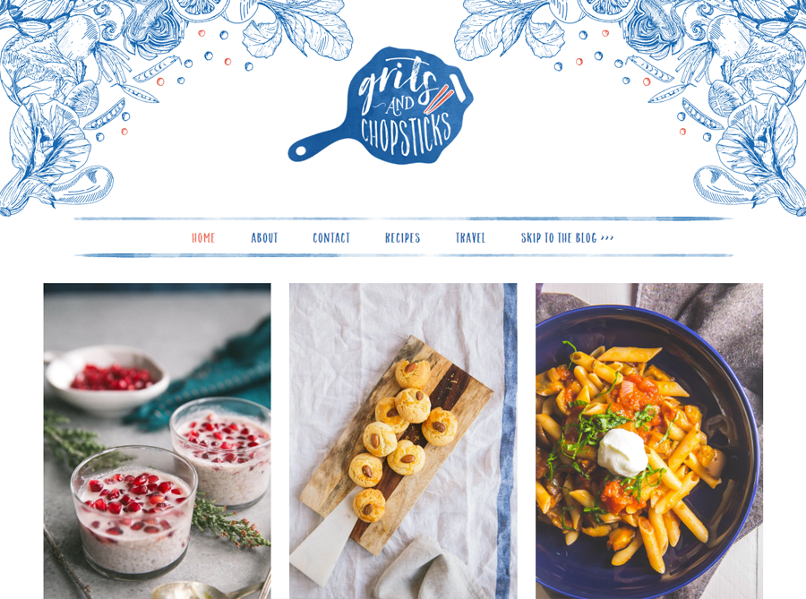 Grits and Chopsticks | Custom Website Design | by Kate