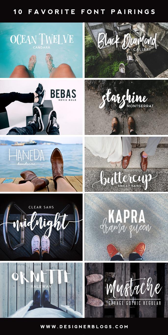 10 Favorite Font Pairings