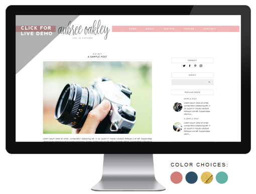 premade blog design
