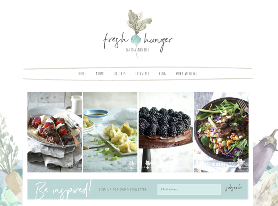 Fresh Hunger | Custom Website Design | by Kate