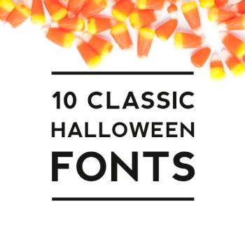 10 Classic Halloween Fonts