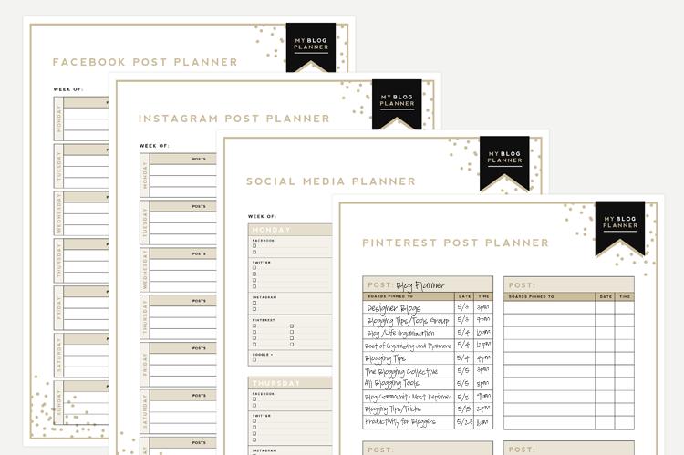 blog post planner template images template design ideas. Black Bedroom Furniture Sets. Home Design Ideas